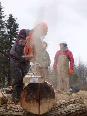 Chainsaw milling demonstration, Cleveland, OH, 2013