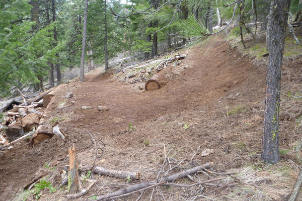 Rebuilt switchback, SCA project leader training, Umatilla National Forest, OR, 2011
