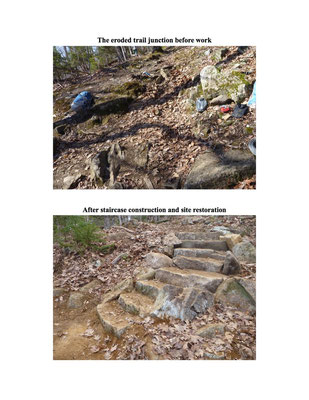 The MCC rock work project, Camden Hills State Park, 2013