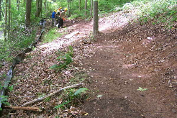 Constructing new trail, SCA work skills training, Delaware Water Gap, NJ, 2009