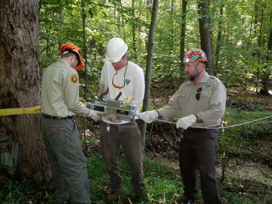Getting familiar with the Griphoist, BLM Eastern Statets Division, Lorton, VA, 2012