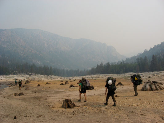 Hiking in for a month in the backcountry,  John Muir Wilderness, CA, 2007
