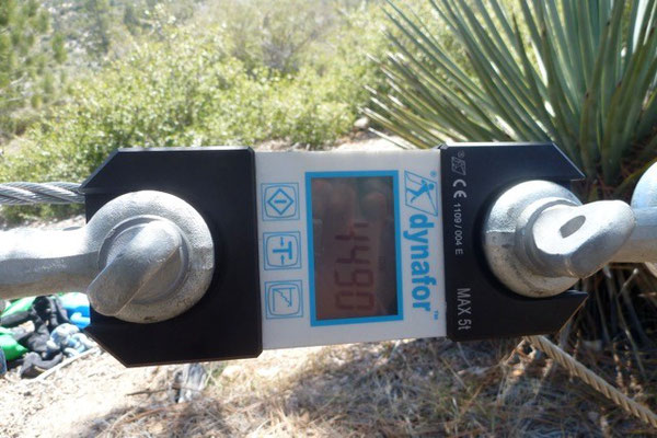 Using a dynomometer to measure force, Angeles National Forest, CA, 2012