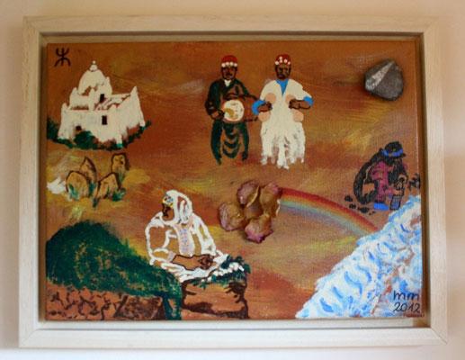 jellah, jellah- Wurzeln in Marokko Acryl auf Leinwand Stein Rose 2012 unverkäuflich