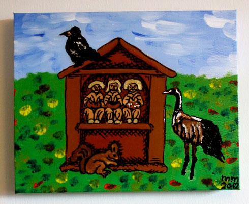die Dreigestaltige Acryl auf Leinwand 2012 Preis 80,- €