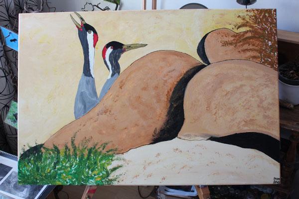 Glücksbringer aus der Reihe Wurzeln in Marokko Acryl auf Leinwand 2015  Preis 200,-€