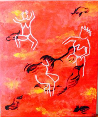 die Tänzerin Acryl auf Leinwand 2016 Preis 150,- €