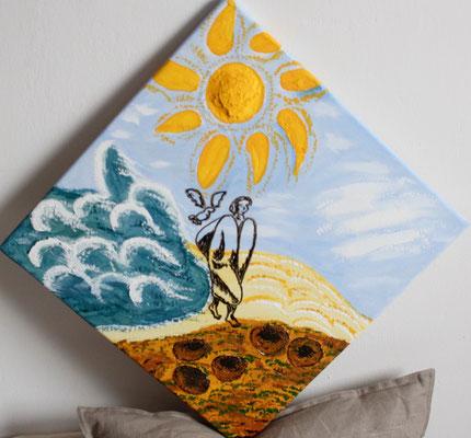 das Sonnengebet von Franz von Assisi 2016 Acryl auf Leinwand Preis 80,- €