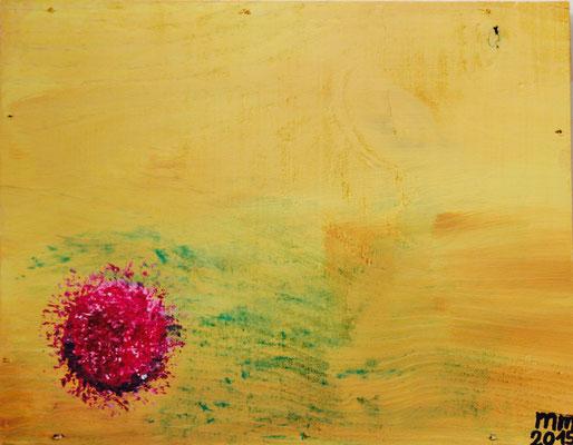 Wüstenblume  Acryl auf Holz 2015 Preis 100,- €