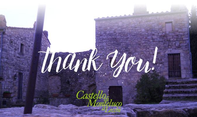 Castello di Monteluco a Lecchi 2018|2019 «Thank you»