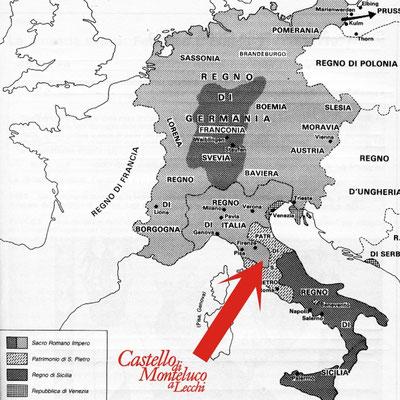 I confini del «Sacro Romano Impero» • The borders of «Holy Roman Empyre»