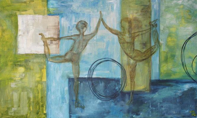 Tanz, Acryl auf Leinwand 160 x120 cm