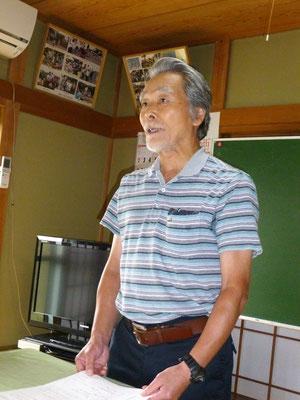 「ある高校教師の歩み」を熱く語る久保田さん