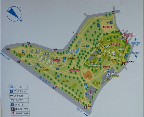 蘆花公園配置図