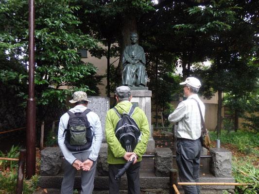 栗山久次郎像(自由が丘の祖)