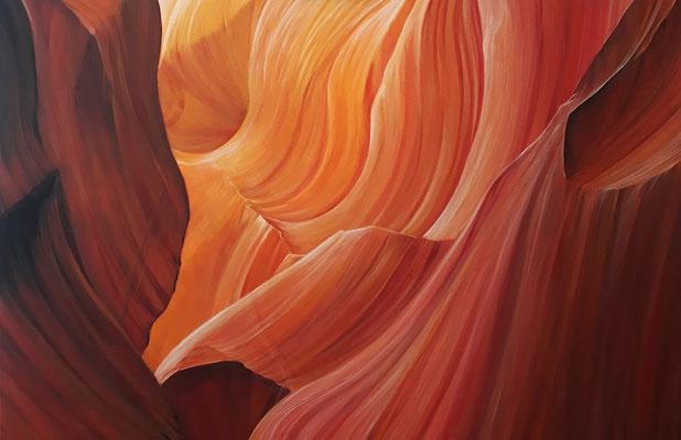 Antelope Canyon, Acryl 2019 / Quelle: pixabay.com