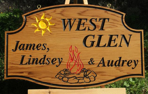 F094 Select Western Red Cedar 14x23:  Font:  Cardiff Bold Italic