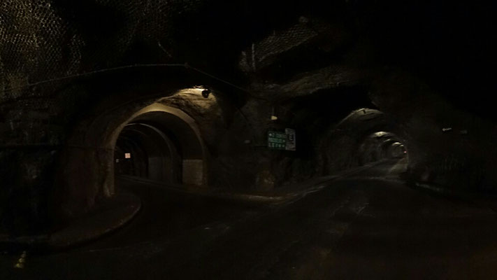 tunnels everywhere under the city