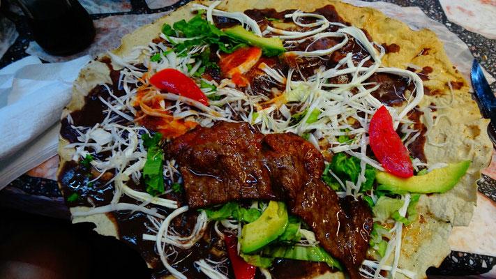 Hmmmm Tlayuda - the mexican pizza