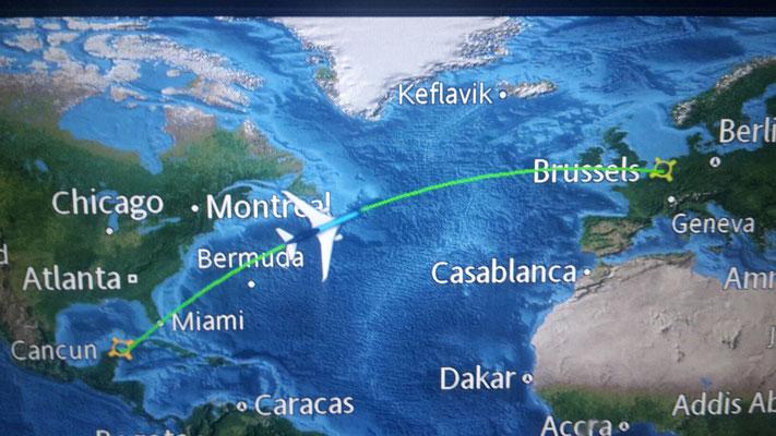 Cancun-Brussels