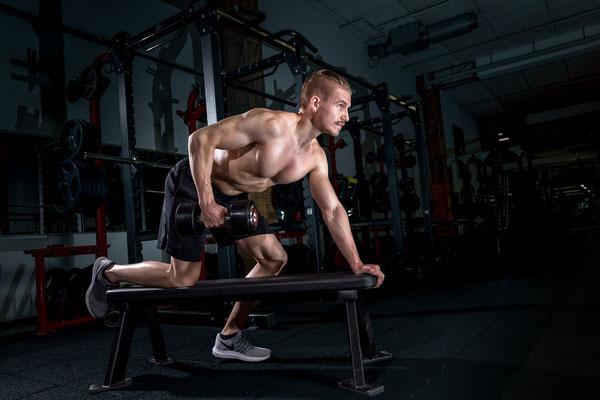 Bodybuilder beim Training