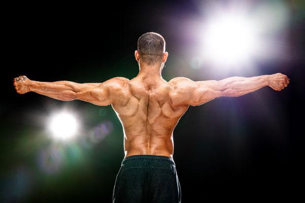 Rücken Bodybuilder