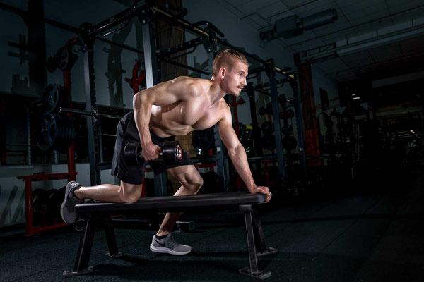 Bodybuilding Foto beim Workout