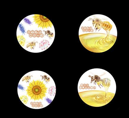ミツバチサミット缶バッチ