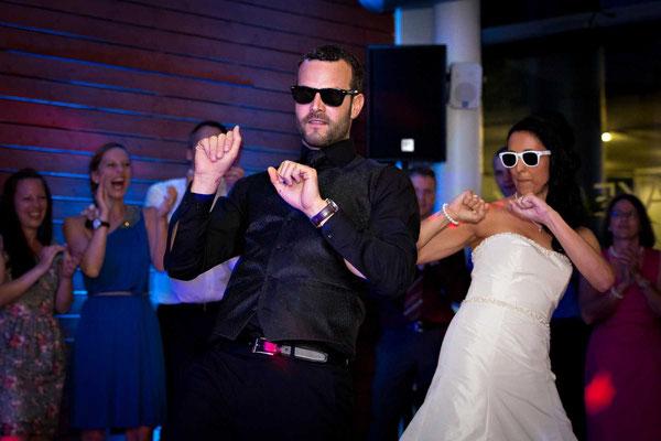 Das Brautpaar beim Tanz