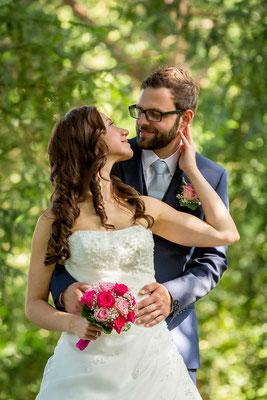 Das Brautpaar beim Fotoshooting