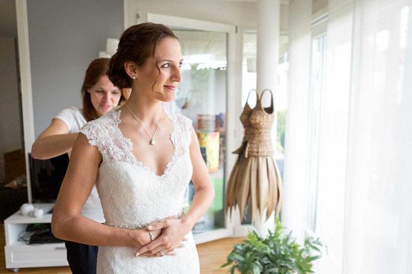 Die Braut bereitet sich vor