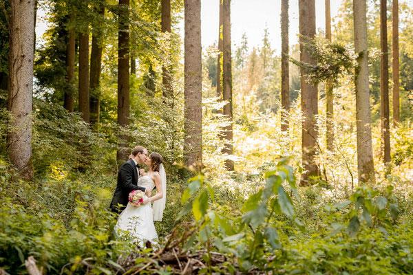 Hochzeitsfotoshooting im Wald