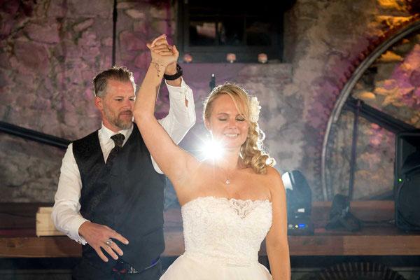 Der erste Tanz an der Hochzeit
