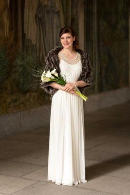 Die Braut mit Ihrem Strauss