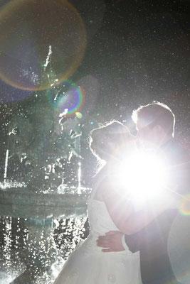 Auch im Dunkeln gibt es schöne Hochzeitsfotos