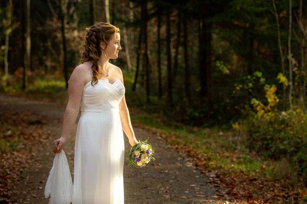 Die Braut in der Natur