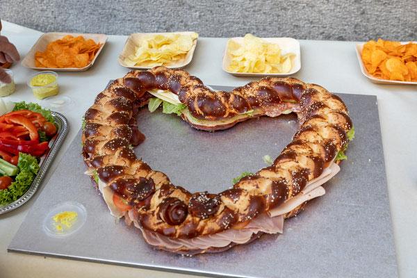 Sandwich in Herzform
