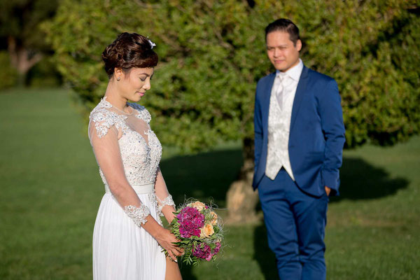 Paarfoto an der Hochzeit