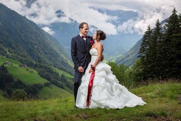 Hochzeit in den Glarner Bergen