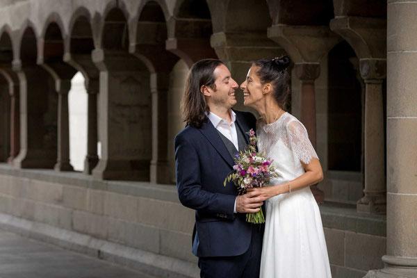 Das Brautpaar bei den Paarfotos