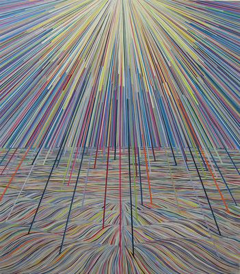 Morgen geht die Sonne unter, 171 x 151 cm, 2016