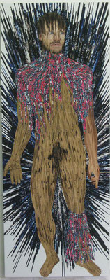 Black Champagne, 205 x 65 cm, 2015