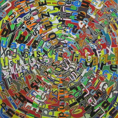 Schmutzige Wäsche, 90 x 90 cm, 2013