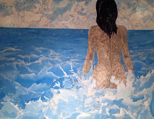 Badende, 150 x 120 cm, 2004