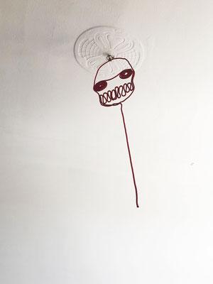 Red Soul, 160 x 38 cm, rope, resin, 2014