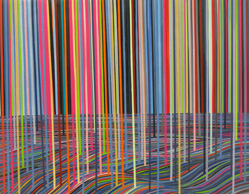 Aliens stehlen die Farben, 71 x 91 cm, 2015