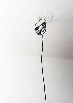 Black Soul, 160 x 38 cm, rope, resin, 2014