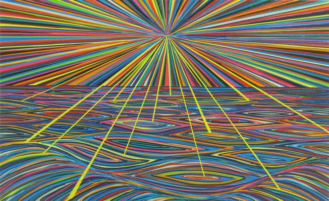 Kreationistische Farbenlehre (Gott gibt gelb), 37 x 56cm, 2015