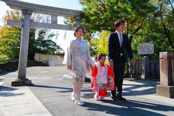 七五三稲積神社にお詣り