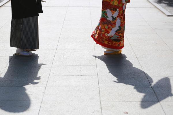 武田神社紅葉ロケ 花嫁和装 山梨フォトスタジオ 甲斐市写真スタジオ